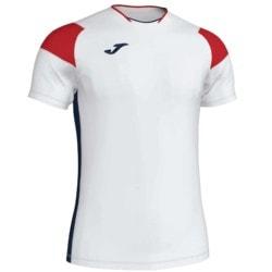 Koszulka piłkarska JOMA Crew III biało czerwona