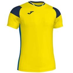 Koszulka piłkarska JOMA Crew III żółto granatowa