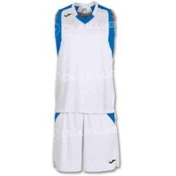 Strój koszykarski JOMA Final biało niebieski