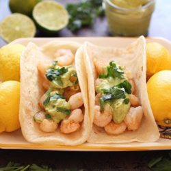 Spicy Shrimp Tacos With Avocado Puree For One | One Dish Kitchen