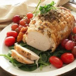 Herb Crusted Turkey Roast | One Dish Kitchen