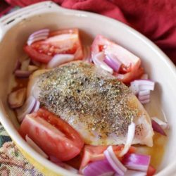 Chicken in baking dish | Chicken Caprese | One Dish Kitchen