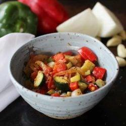 ratatouille in bowl
