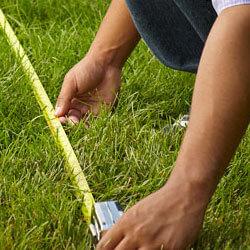 misurazione del giardino