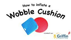 inflating a wobble cushion