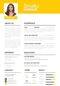 Retro Style Resume Template