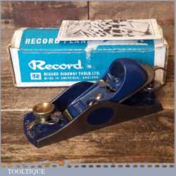 Vintage Boxed Near Mint Record No: 09 ½ Adjustable Throat Block Plane