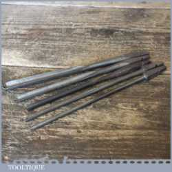 Antique Selection Of 5 No: Shell Auger Brace Bits - Good Condition