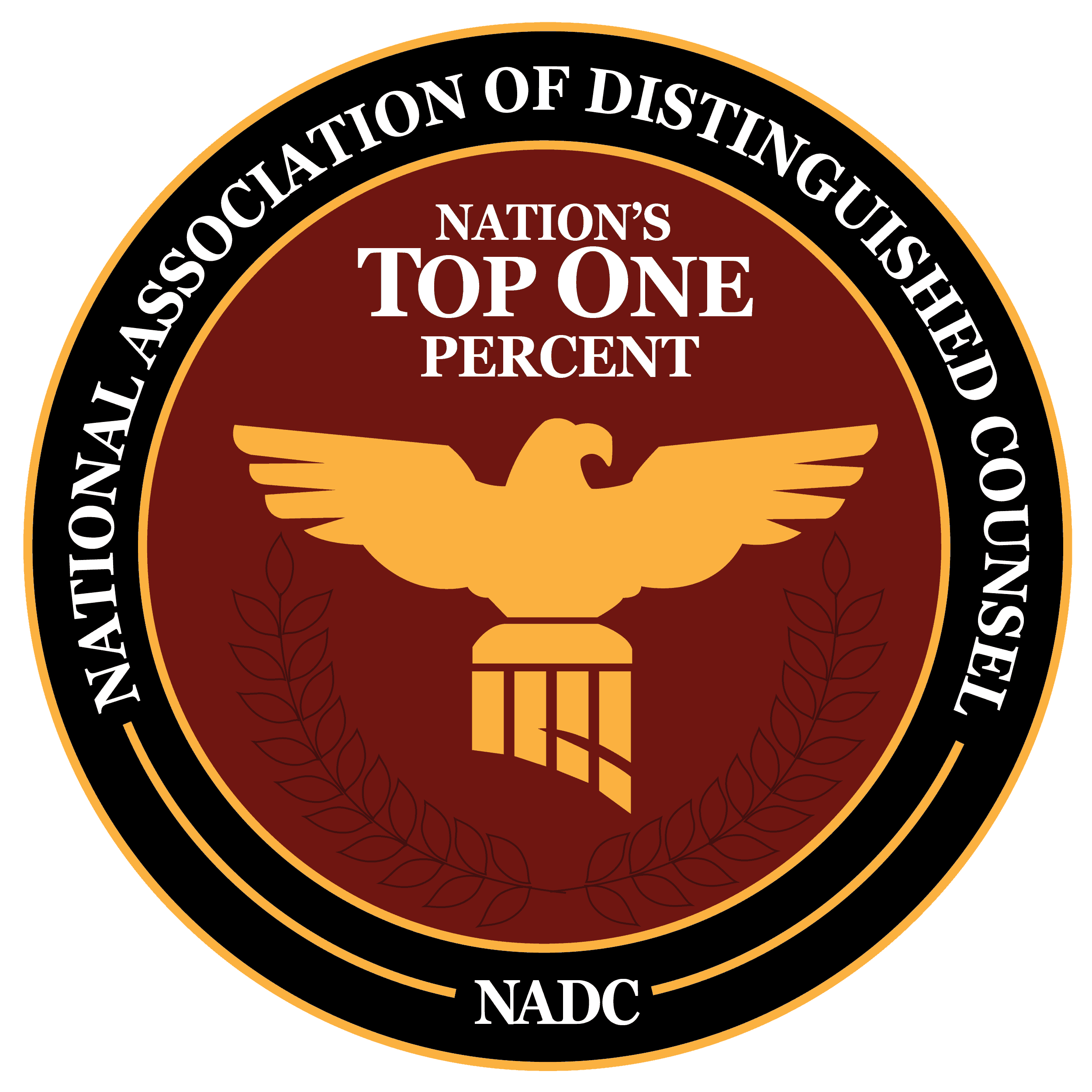 National Association of Distinguished Counsel - NADC Logo - Nation's Top One Percent