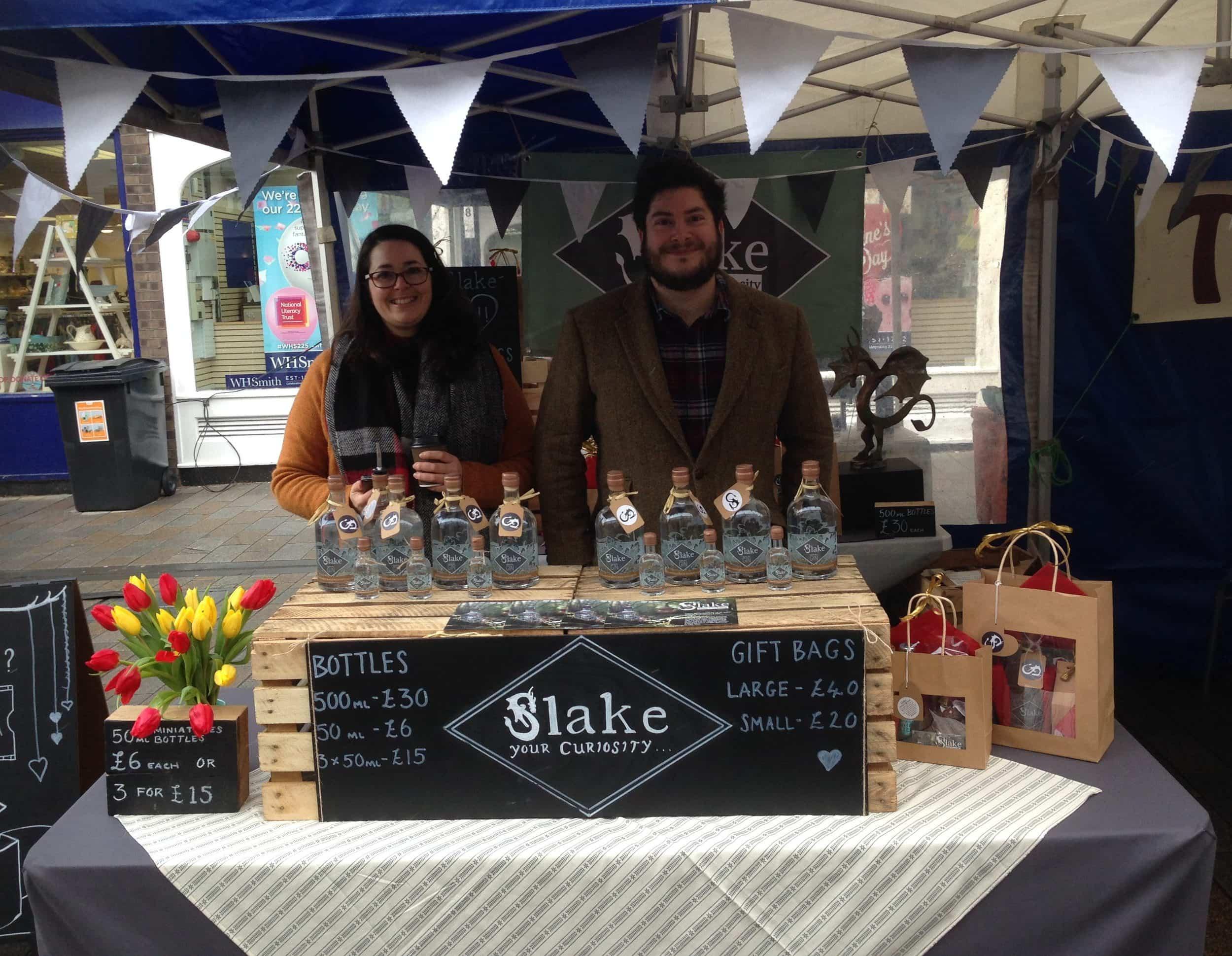 Slake's Market Stall at Shoreham Farmer's Market in Shoreham-by-Sea, West Sussex