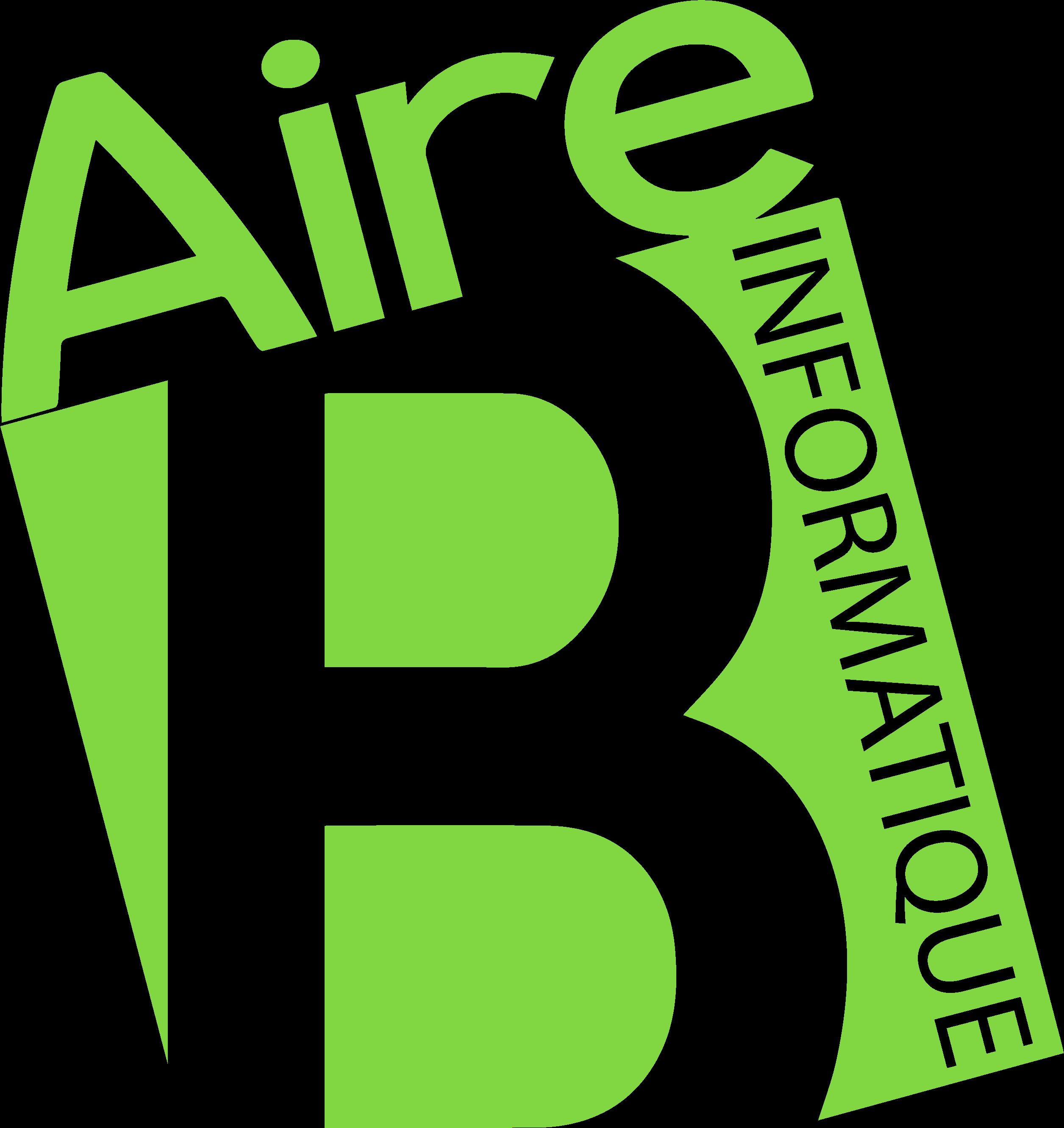 logo vert fond transparent + informatique