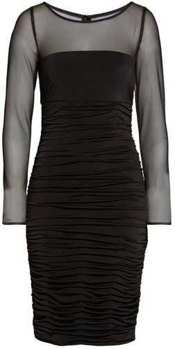 Eliza J mesh cocktail dress | 40pusstyle.com