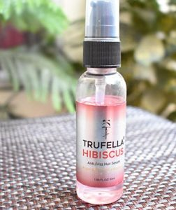 Trufella Hibiscus and argan oil anti frizz hair serum review
