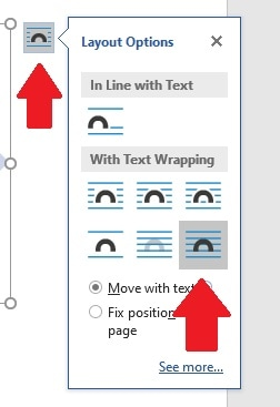 Change the layout options for your document to make sure your timeline stays where you put it on the page by choosing the last layout option