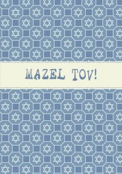 MT627 Mazel Tov Jewish Illuminated Greeting Card