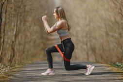 resistance band triceps exercise