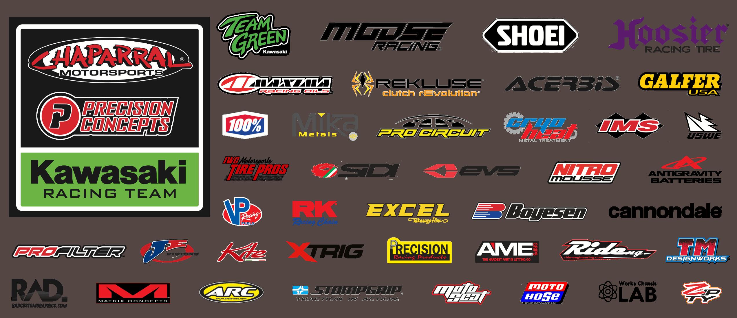 2021 Race Team Sponsors - Light Background