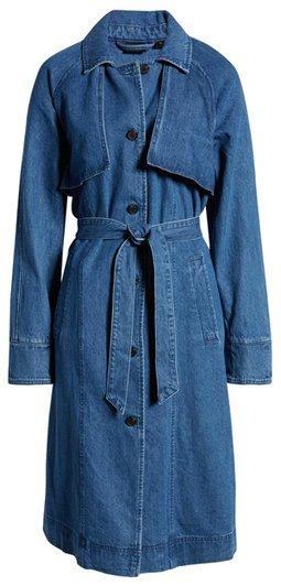 Vero Moda Denim Trench Coat | 40plusstyle.com