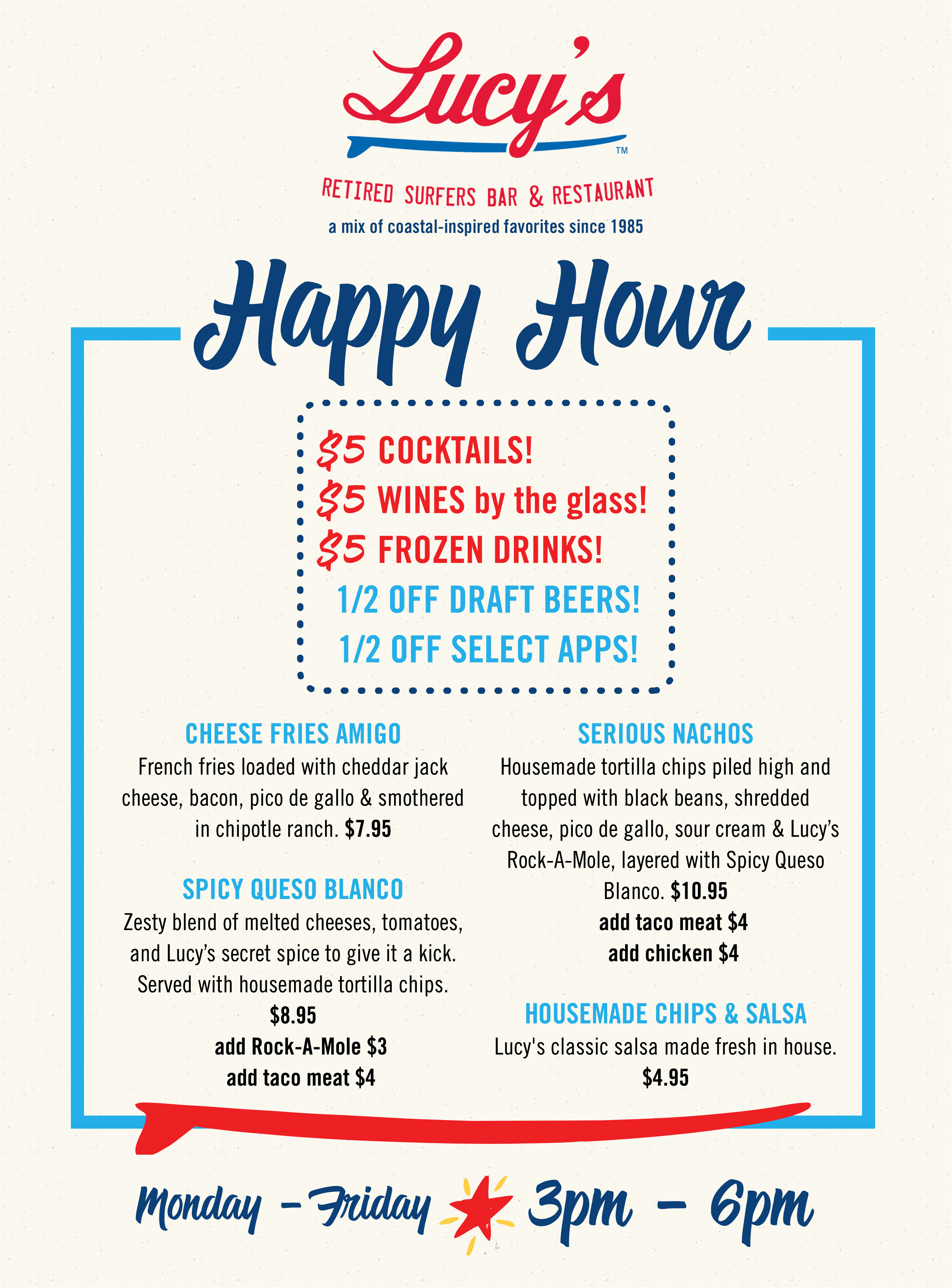 Biloxi, MS Happy Hour Menu