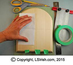 tracing a pyrography pattern