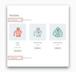 Sorting Dropdown in WooCommerce
