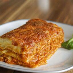 Lasagne al ragù con mozzarella perfette