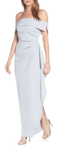 Mother of the bride dress - crepe gown | 40plusstyle.com