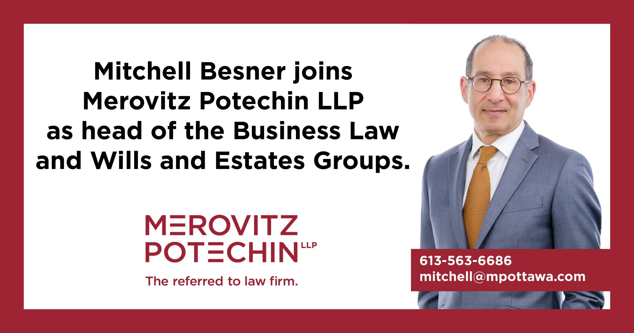 Mitchell Besner joins Merovitz Potechin LLP