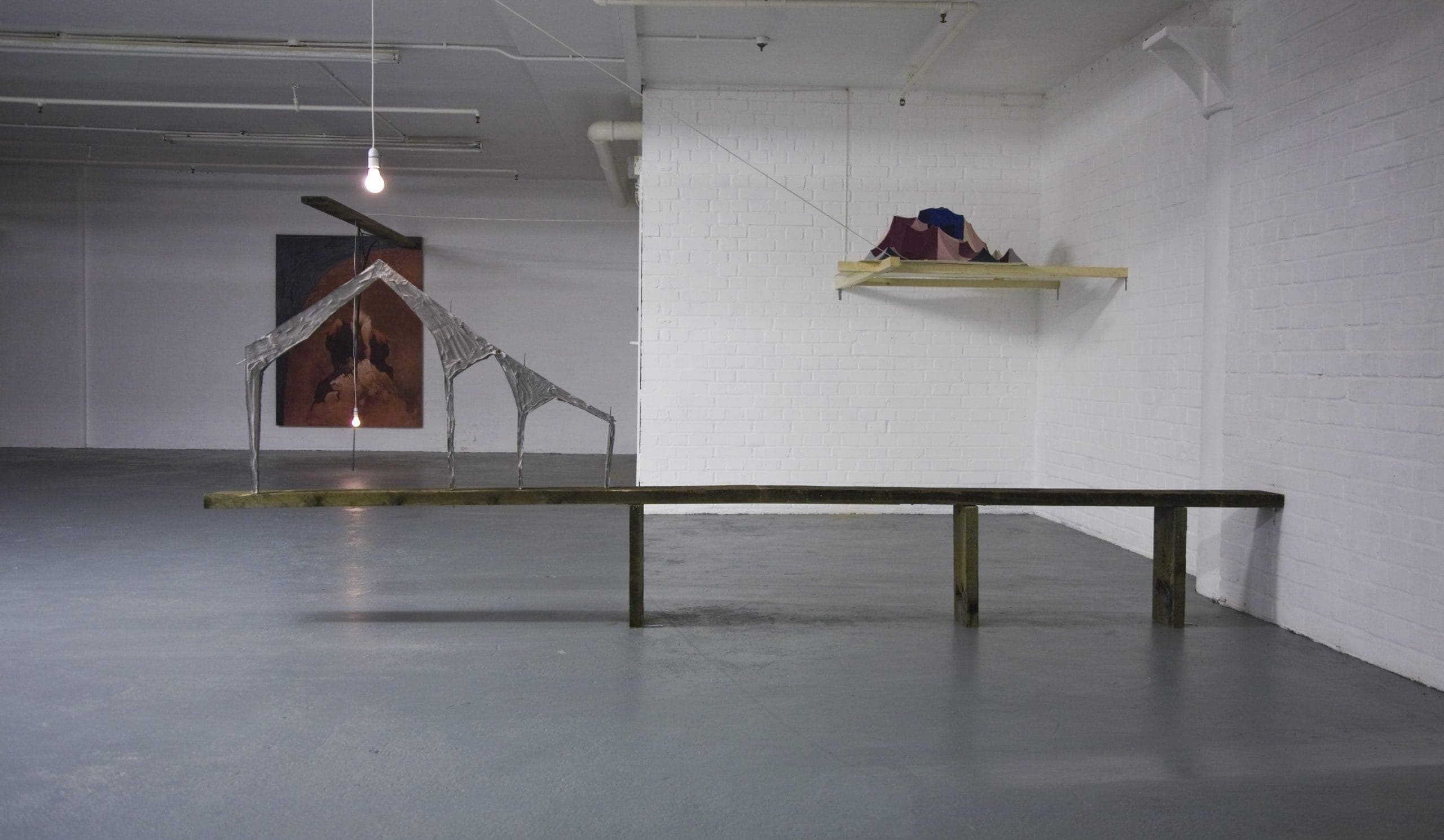 Will Eat This Sleepy Town  Marcin Dudek Ben Washinton  Waterside Project Space, London January - February 2011  Works shown: Ben Washington Massive Fat Removal  http://watersideprojectspace.org/  Photo: Pierre d'Alancaisez  Copyright Waterside Proje Project Space and artists, 2011. Any use is prohibited without the express permission of the gallery.