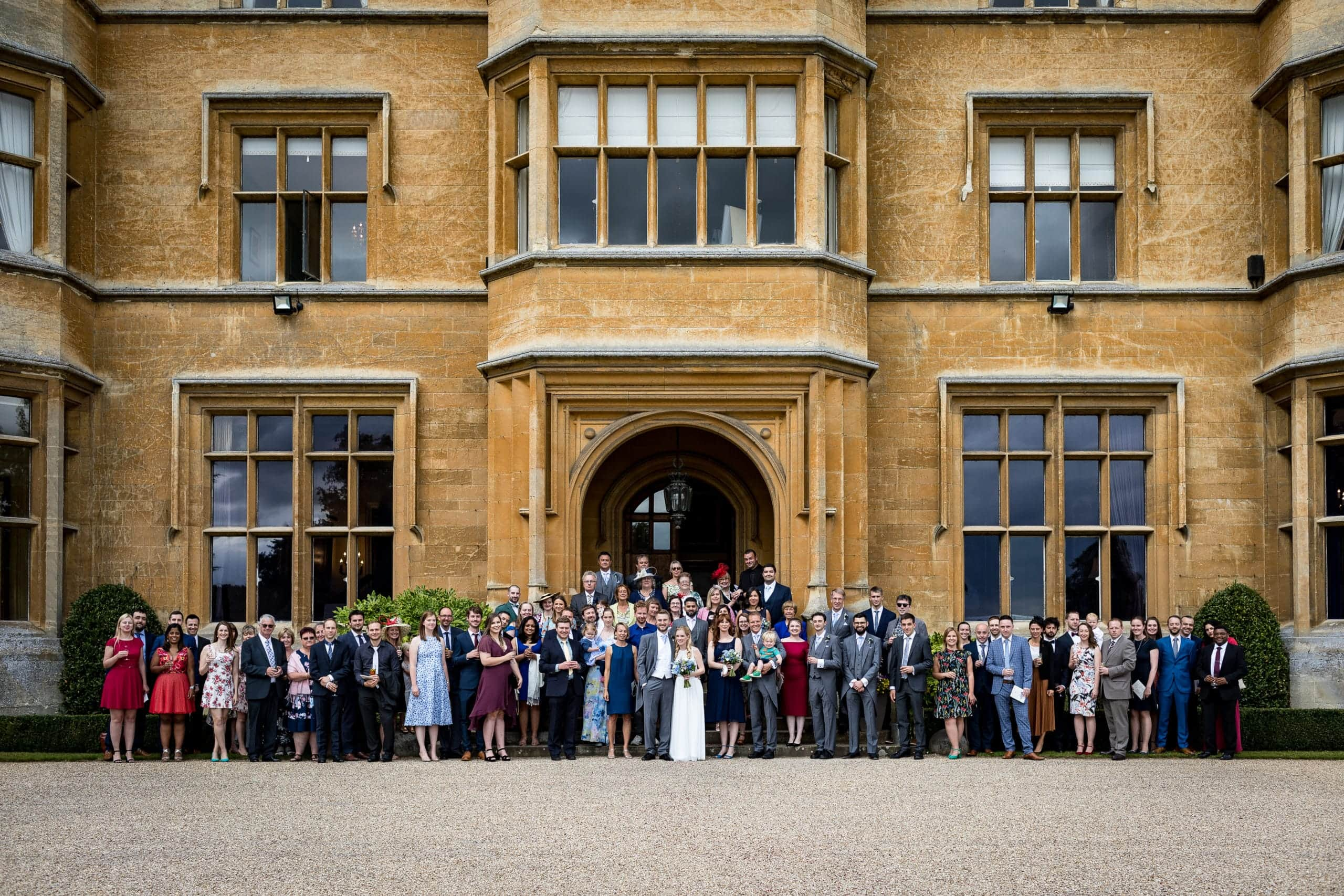 Shuttleworth House Wedding - group shot