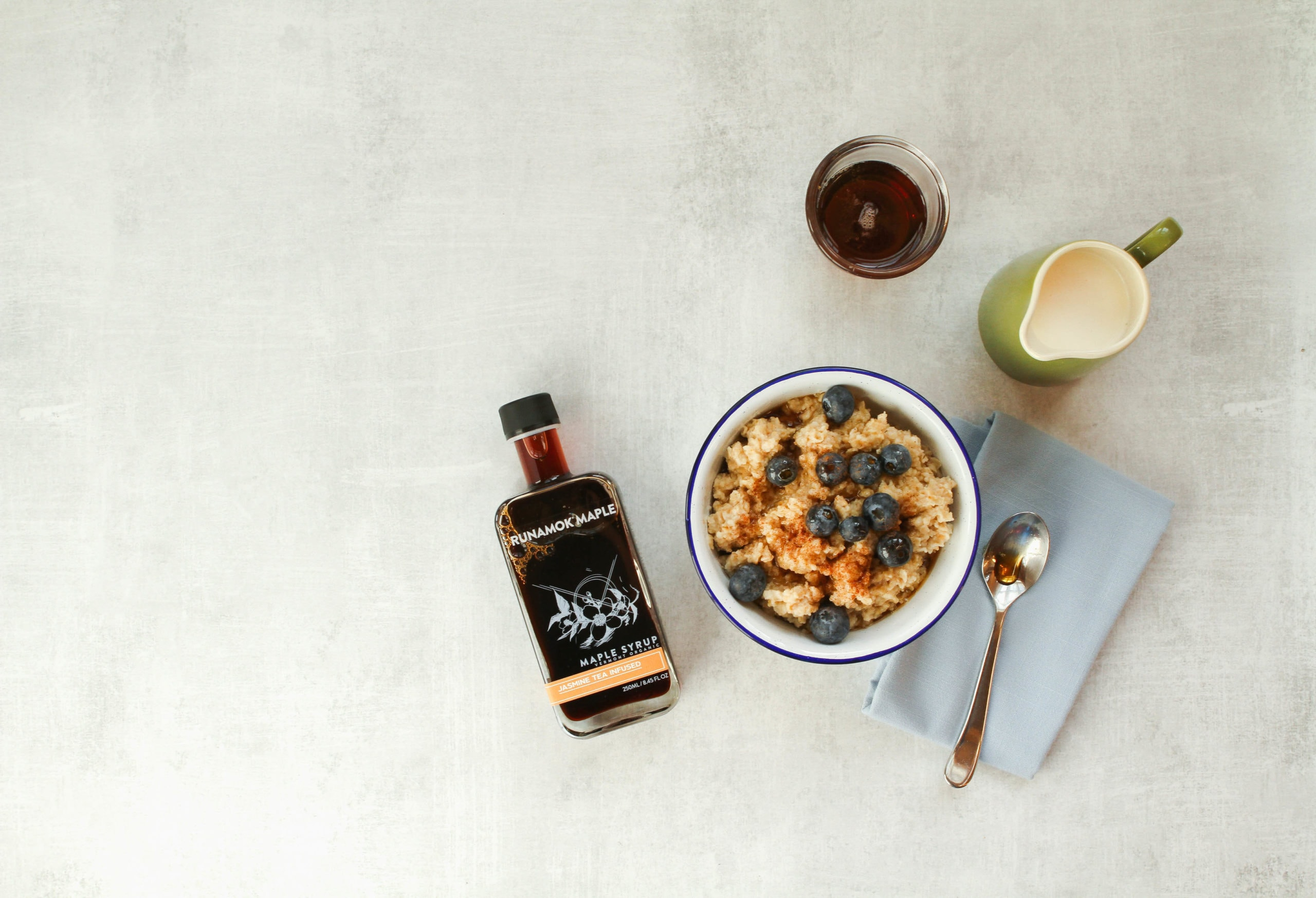 Oatmeal with Jasmine Infused Maple Syrup by Runamok Maple