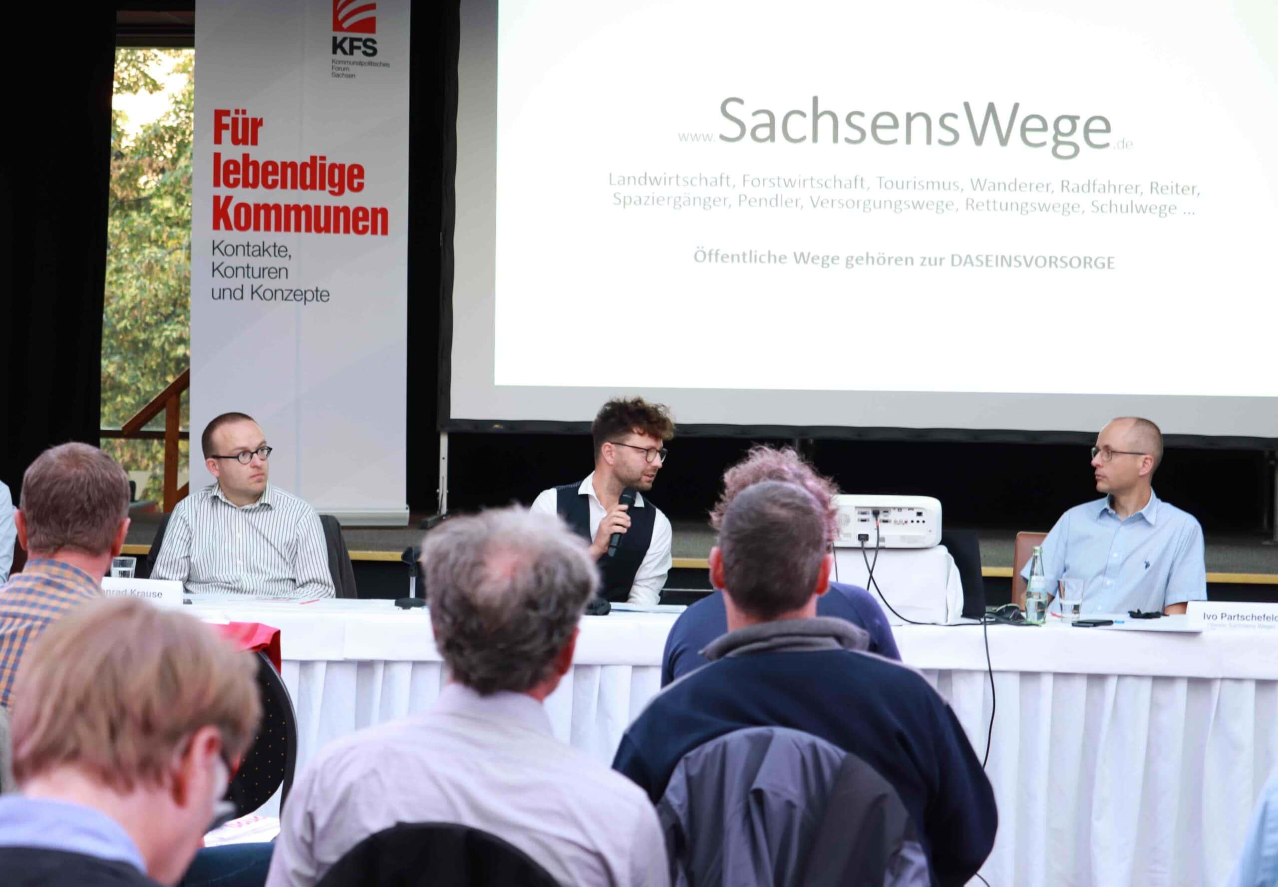 v.l.n.r.: Konrad Krause (ADFC), Lars Kleba (KFS), Ivo Partschefeld (Sachsens Wege)