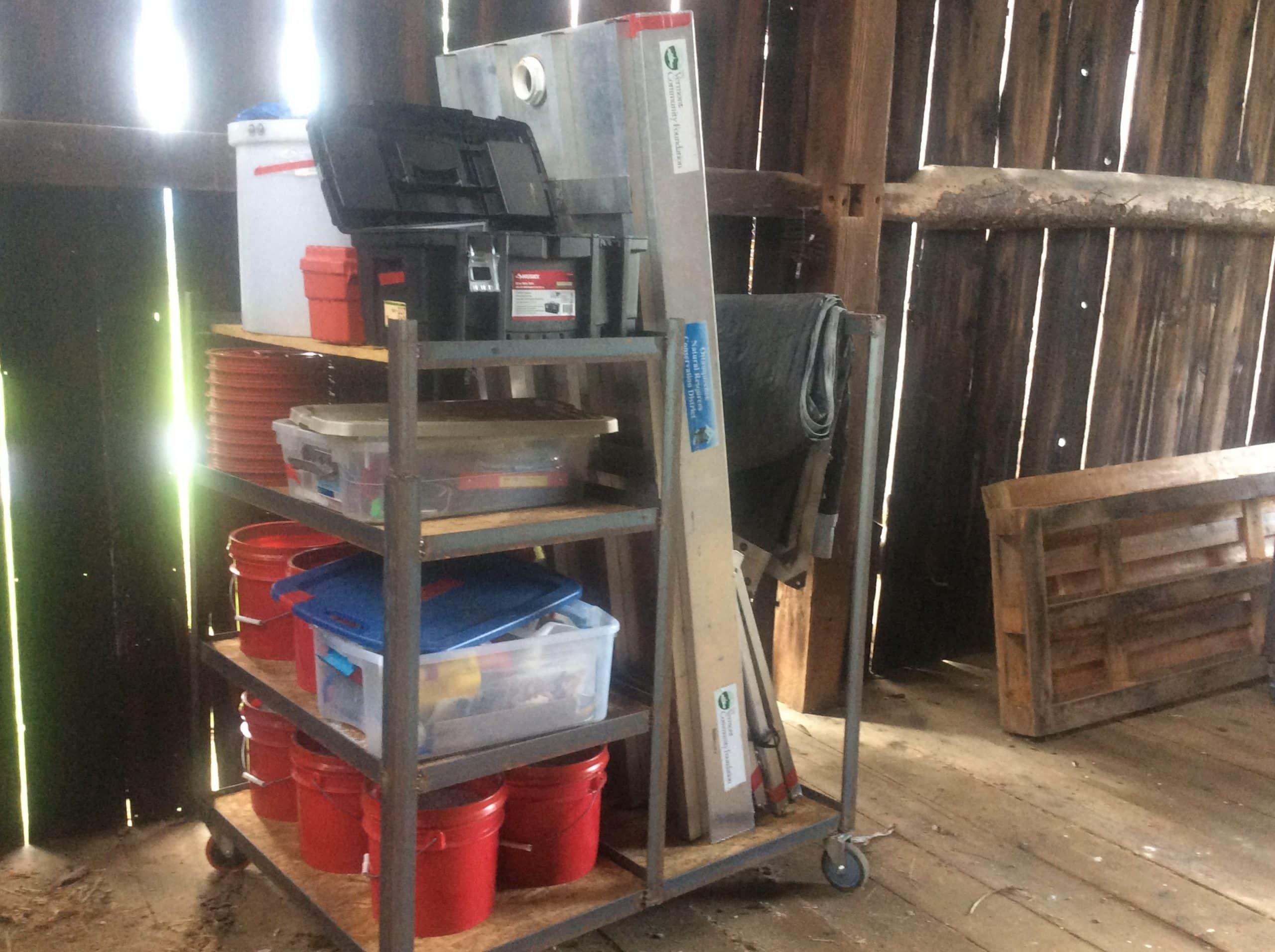 Storage cart design for Em2 stream table