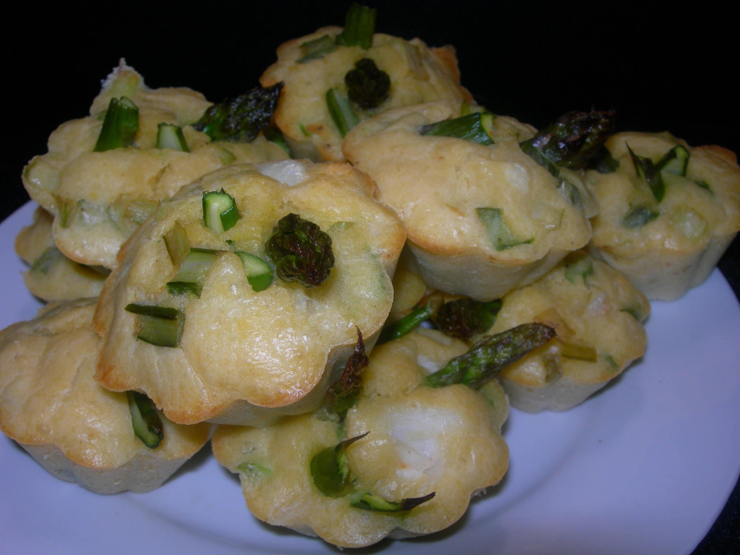 photo de Muffins aux asperges et aux miettes de crabe