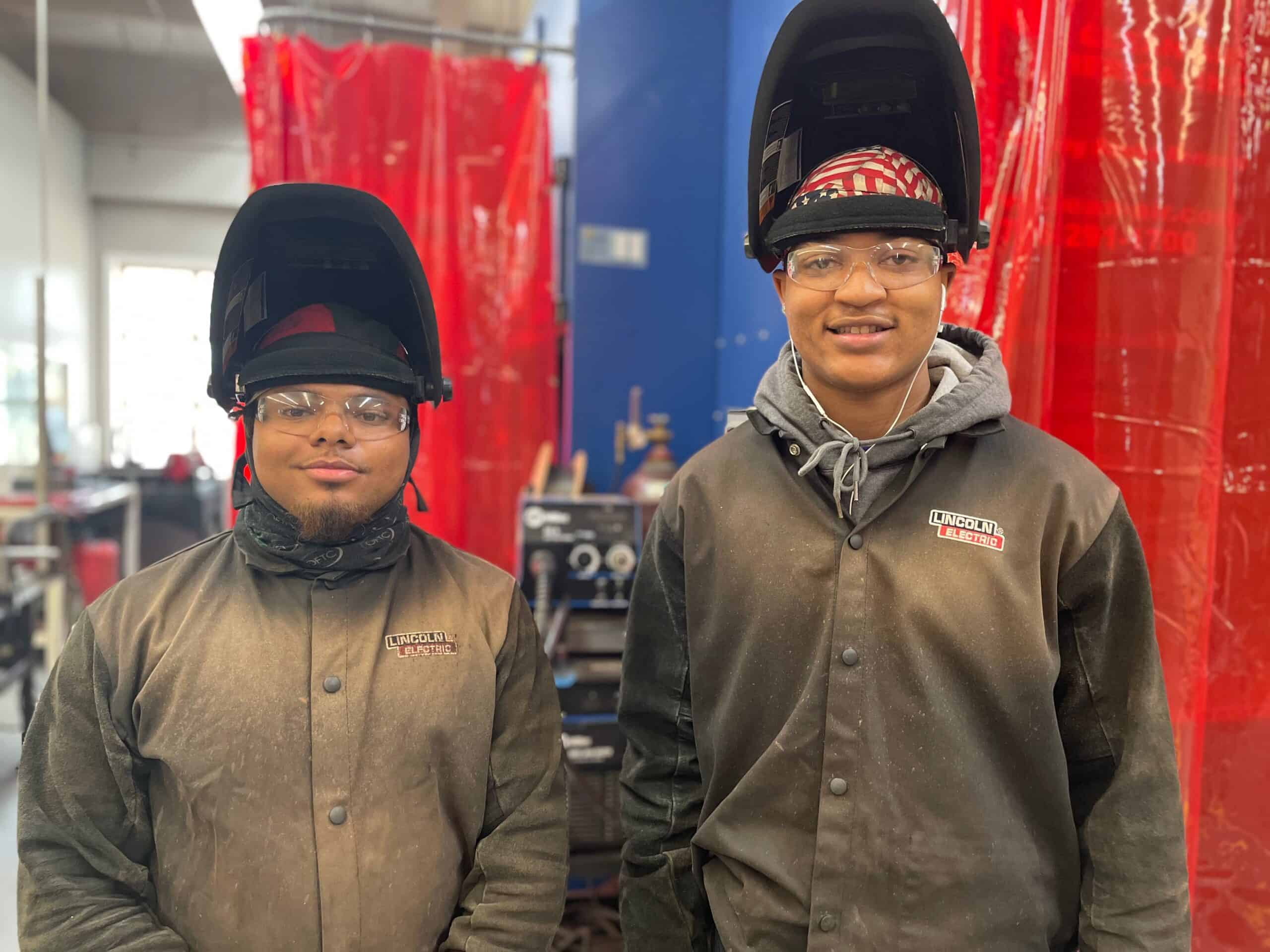 After learning of an opportunity to take welding classes during their senior year of high school, Malik Brinson and Tremaine Shields started in Oconee Fall Line Technical College's (OFTC) dual enrollment program