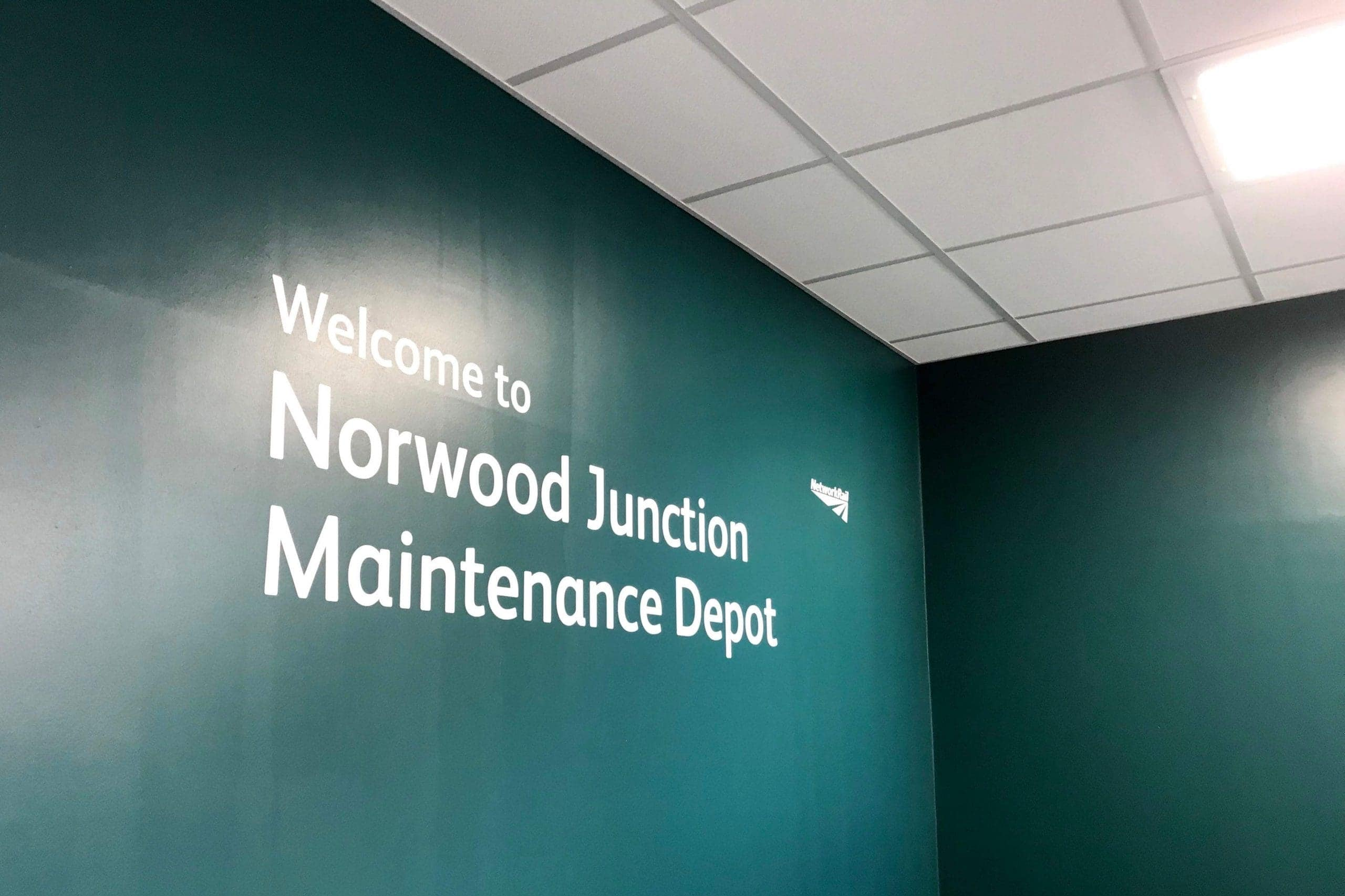 Norwood junction maintenance depot welcome wall where large commercial air conditioning solution by SubCool FM