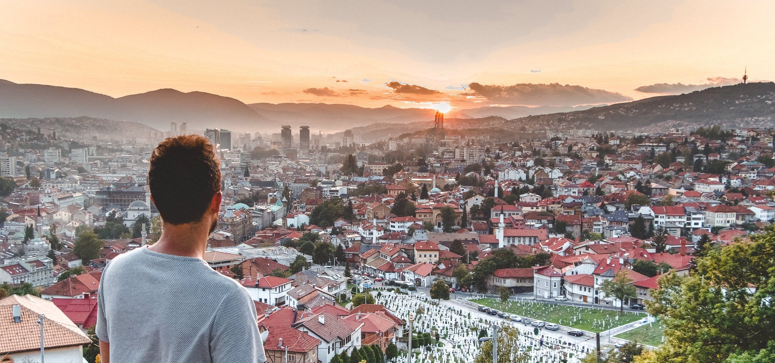 Watching the sunset over Sarajevo from the Yellow Bastion - A Guide To Sarajevo