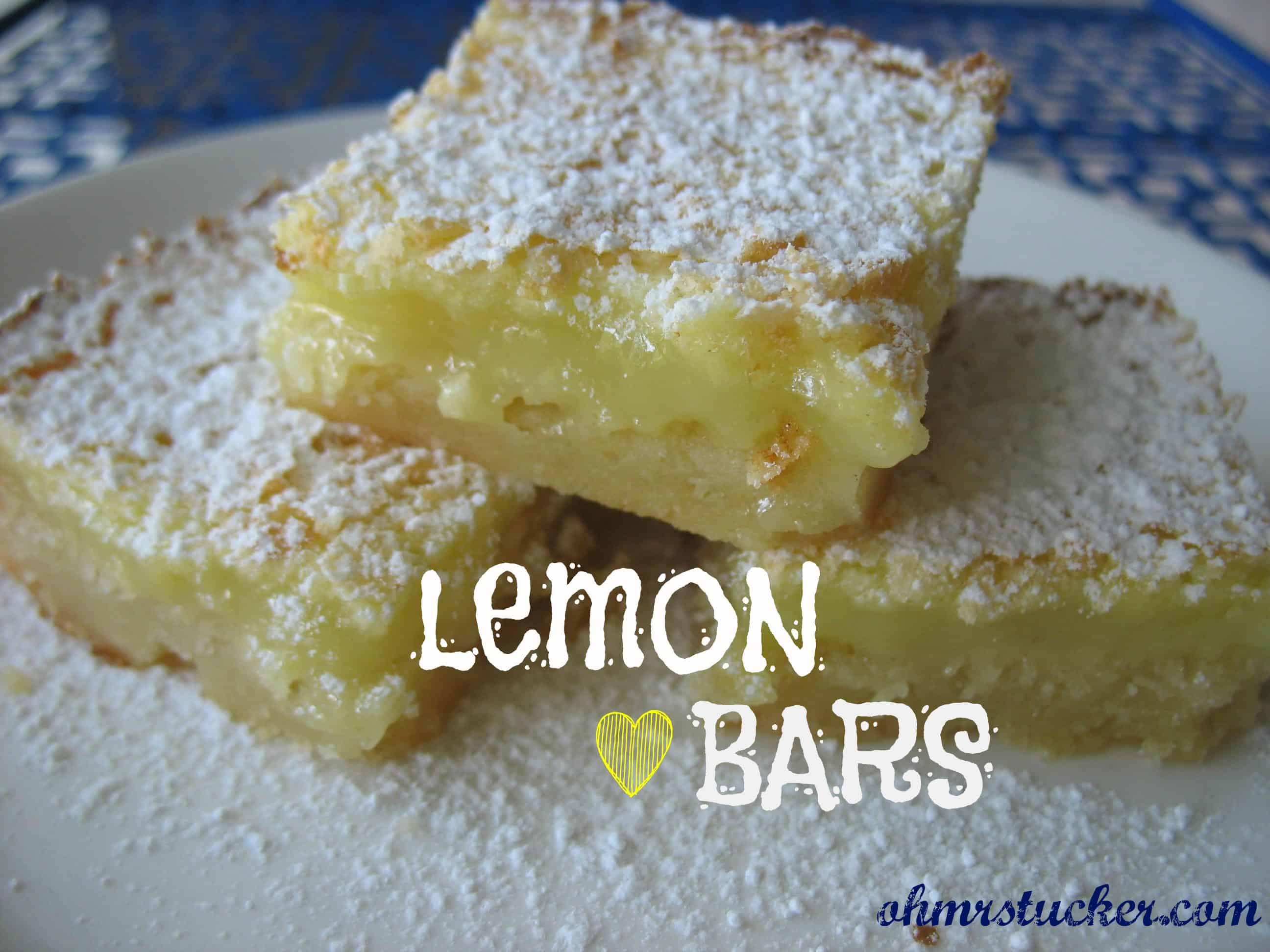 Fresh, crisp, perfect for your non-chocolate lovers: Paula Deen's Lemon Bars #lemonbars #pauladeen #desserts #ohmrstucker