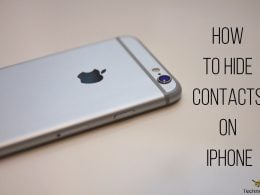 how to hide contacts on iPhone