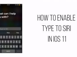how to enable type to Siri in iOS 11