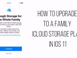 How To Upgrade To A Family iCloud Storage Plan In iOS 11