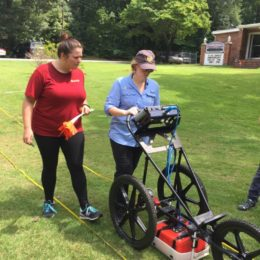 GPR helps archaeologists see underground.