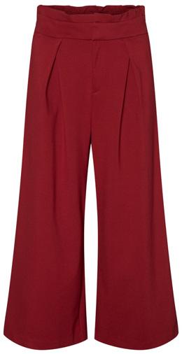 VERO MODA paperbag waist wide leg crop pants | 40plusstyle.com