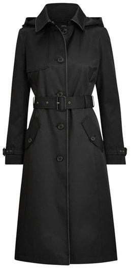 Lauren Ralph Lauren Hooded Trench Coat | 40plusstyle.com