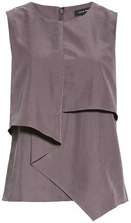 Club Monaco drape front blouse | 40plusstyle.com