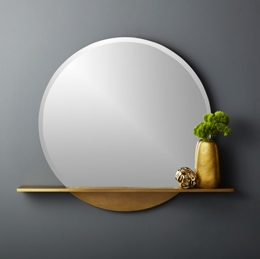round glass mirror