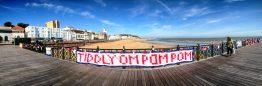 Tiddly Om Pom Pom by Pink Minx, Hastings Pier