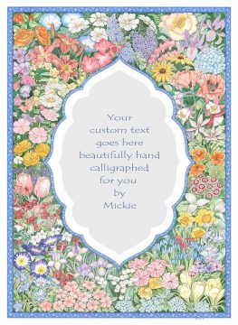 Arabesque Garden Original Ketubah by Mickie Caspi