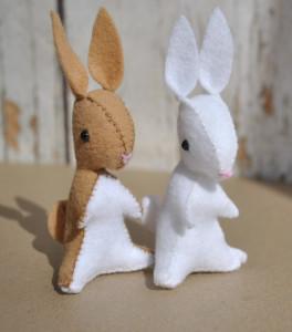 rabbit felt animal pattern