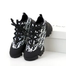 Женские кроссовки Dior D-Connect Kaleidiorscopic Sneaker Black White